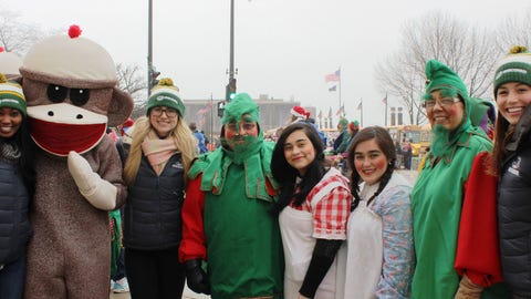 A few festive faces for the 2014 Milwaukee Holiday parade.