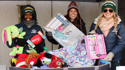 Check out all of these toys! Bishara, Chyna & Sage were blown away by fans generosity!
