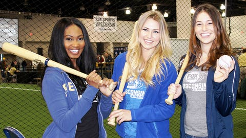 The FOX Sports Wisconsin Girls have been working on their batting during the offseason (and at Brewers On Deck).