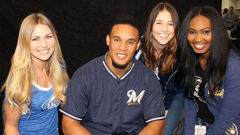 The FOX Sports Wisconsin Girls caught up with Brewers All-Star Carlos Gomez.