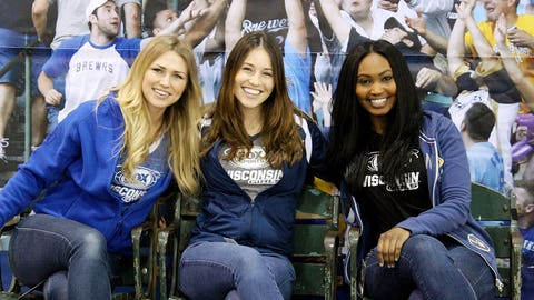 The FOX Sports Wisconsin Girls can't wait to get back to Miller Park. Until April 6, these seats will have to do.