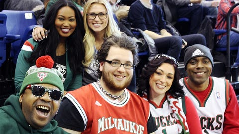 Bishara & Chyna joined these Bucks fans at the team's open practice.