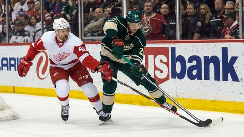 PHOTOS: Red Wings 3, Wild 2