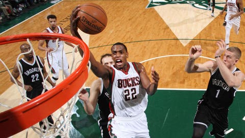 Khris Middleton. Stats: 13.4 PPG, 4.4 RPG, 2.3 APG, 1.5 SPG, 46.7 FG%, 85.9 FT%, 40.7 3PT%