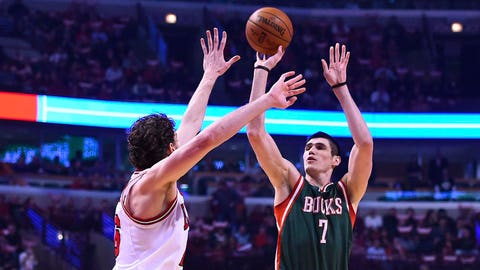 Ersan Ilyasova. Stats: 11.5 PPG, 4.8 RPG, 47.2 FG%, 64.5 FT%, 38.9 3PT% in 58 games
