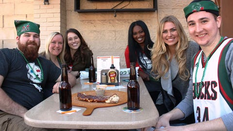 Bucks fans enjoyed the patio at Leff's & seeing their team in the playoffs.