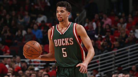 Michael Carter-Williams. Stats: 14.1 PPG, 4.0 RPG, 5.6 APG, 2.0 SPG, 3.2 TPG, 42.9 FG%, 78.0 FT% in 25 games with the Bucks