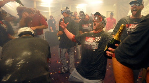 Nationals reliever Drew Storen lets out a big scream