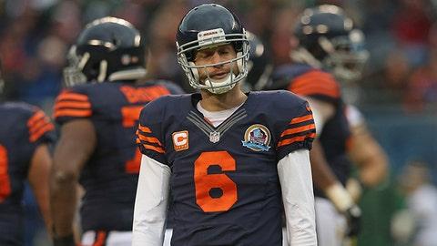 Jay Cutler, QB, Bears (shoulder): Out