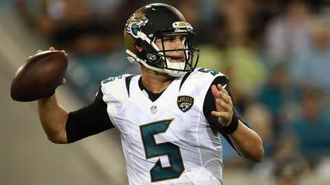 Blake Bortles will throw for 350 yards