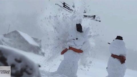 Hanging a snowman