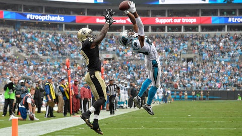 Josh Norman climbs the ladder for an excellent pick against the Saints (Week 3)