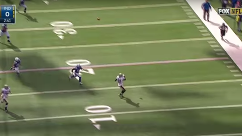 The Saints pull off a fake field goal pass (Week 7)