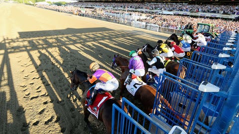 Tapwrit rallies to win Belmont Stakes