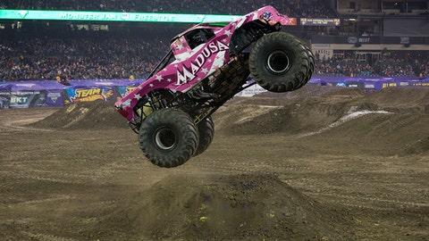 Monster Jam racing in Anaheim: Madusa
