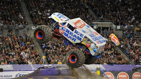 Monster Jam freestyle in Tampa, FL: Ice Cream Man