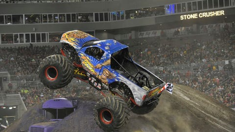 Monster Jam freestyle in Tampa, FL: Stone Crusher