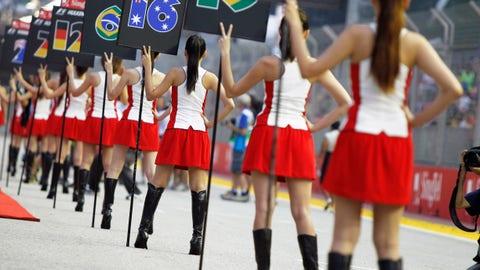 Grid girls at Singapore