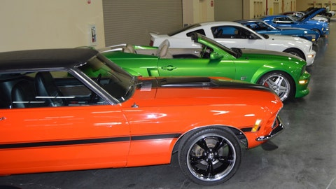 Mustangs on display at Barrett-Jackson Las Vegas