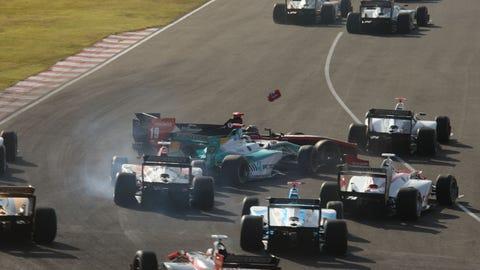 Super Formula start crash