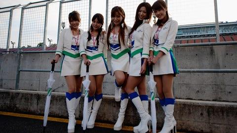 MotoGP grid girls from Motegi