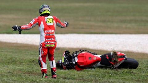 MotoGP: Crashes from Phillip Island