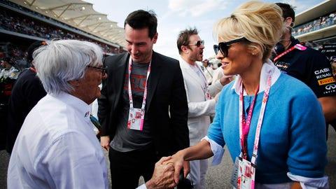 F1: Celebrities at the 2014 USGP