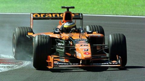 Orange Formula One cars