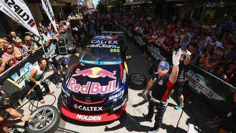 Racing action from Adelaide