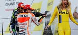 In Hamilton's defense: Photos of podium girls getting sprayed with Champagne