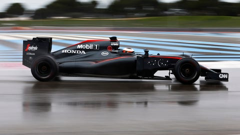 F1 wet weather tire testing at Paul Ricard - Day 1