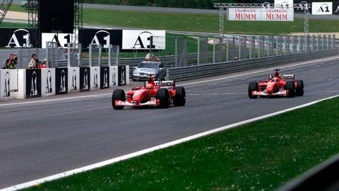 2002 Austrian GP: Michael Schumacher wins by 0.182 seconds