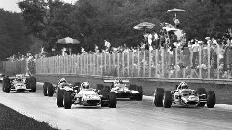 1969 Italian GP: Jackie Stewart wins by 0.080 seconds