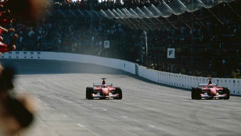 2002 United States GP: Rubens Barrichello wins by 0.011 seconds