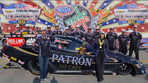 Alexis DeJoria's NHRA career in photos