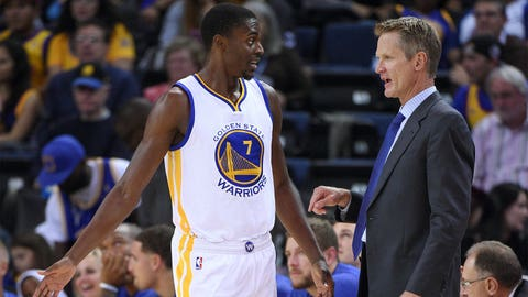 Steve Kerr leaves the booth to coach the Warriors