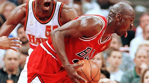 5) Jordan taunts Mutombo