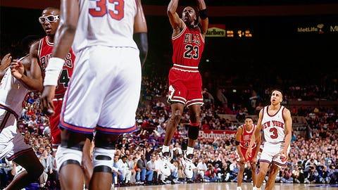 7) Jordan eliminates the Knicks