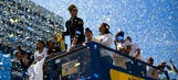 Champions! Golden State Warriors celebrate their NBA title in Oakland
