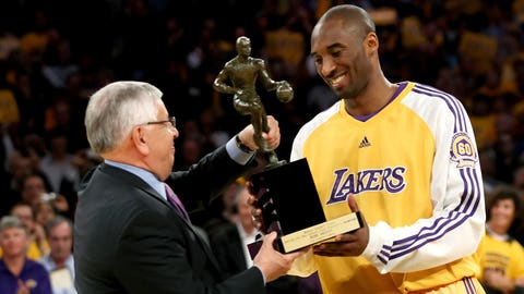 Picking up his lone MVP Trophy