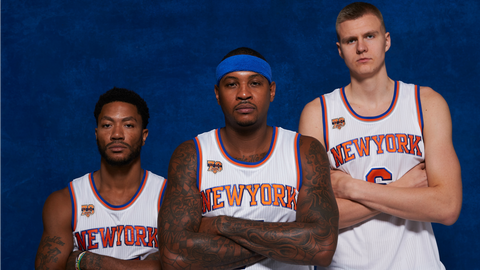 New York Knicks: Carmelo Anthony, Kristaps Porzingis, Derrick Rose