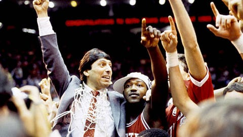 1. N.C. State shocks Houston in 1983 national title game