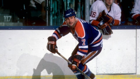 Paul Coffey's 48 goals by a defenseman