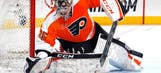 Report: Flyers goalie Mason returns to ice after breaking finger