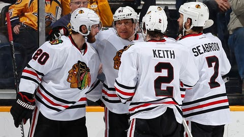 As a young player, how strong was the influence of players like Jonathan Toews, Marian Hossa, etc. on your career as you came up with the Blackhawks?