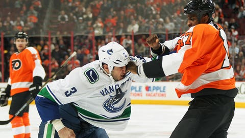 Simmonds vs. Bieksa