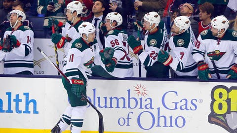 Wild's Parise records second hat trick of season