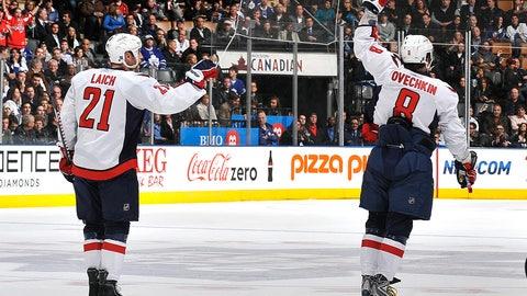 Streaking Ovechkin scores familiar goal versus Maple Leafs