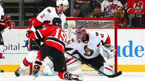 Zajac's four-point first period propels Devils