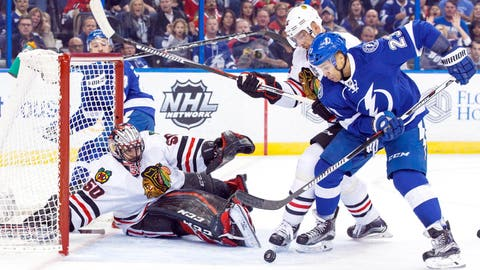 Crawford zaps Brown, but Lightning win Stanley Cup rematch